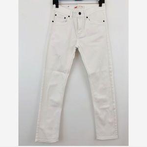 Levi's Big Kid Boys 510 Skinny Fit White Jeans